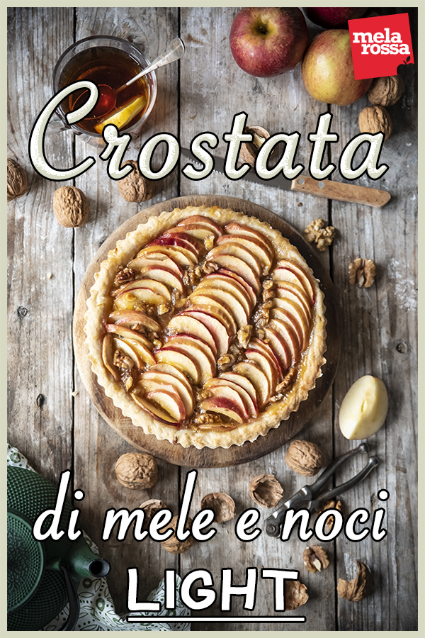 crostata di mele e noci light ricetta