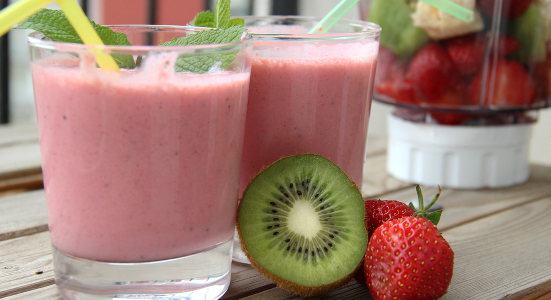 ricetta smoothie di fragole e kiwi