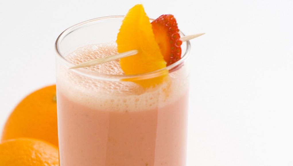 ricetta frullato smoothie fragola e arancia