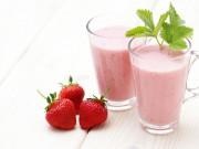ricetta frullato smoothie fragole yogurt e menta