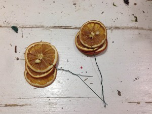 le arance essiccate