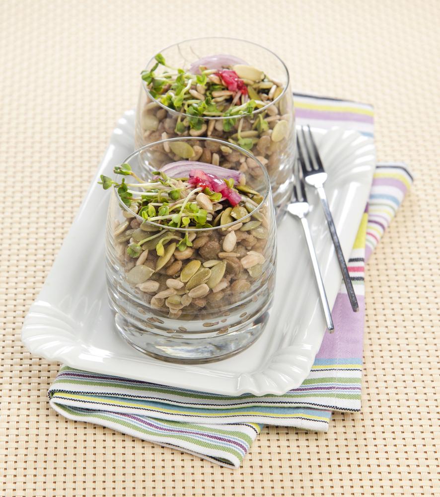 insalata di germogli di soia