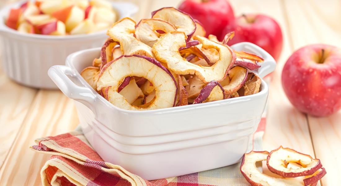 ricetta snack light mele essiccate