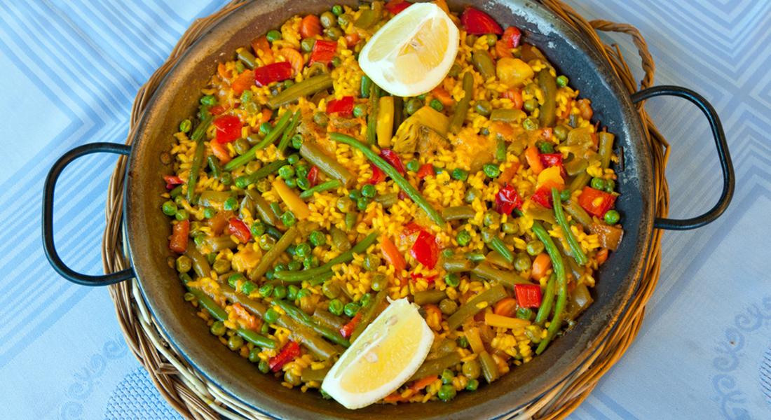 ricetta paella di verdure