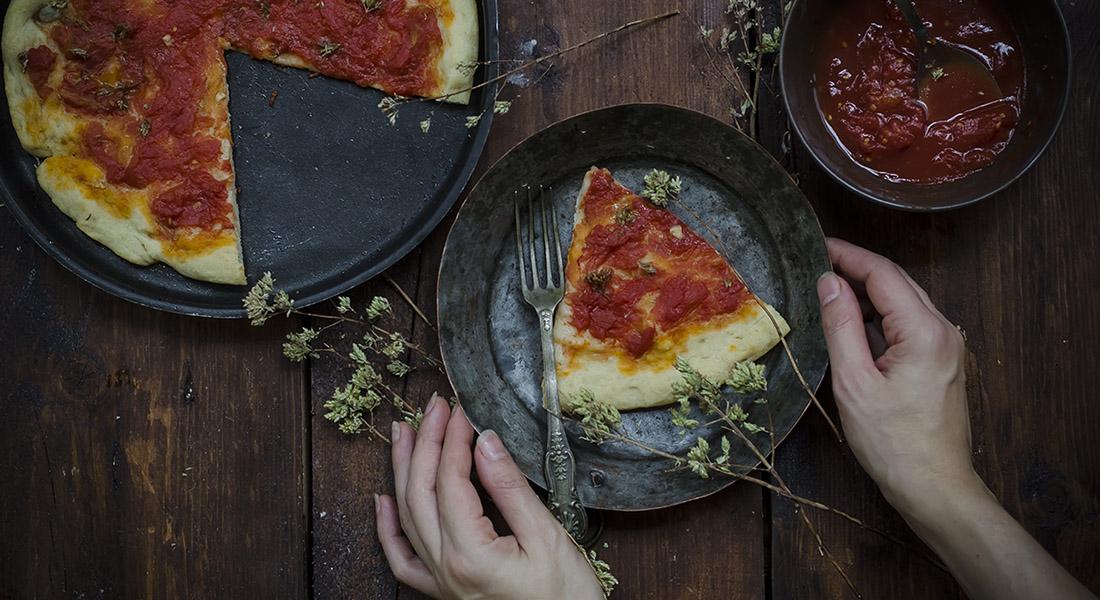 Origano: pizza marinara