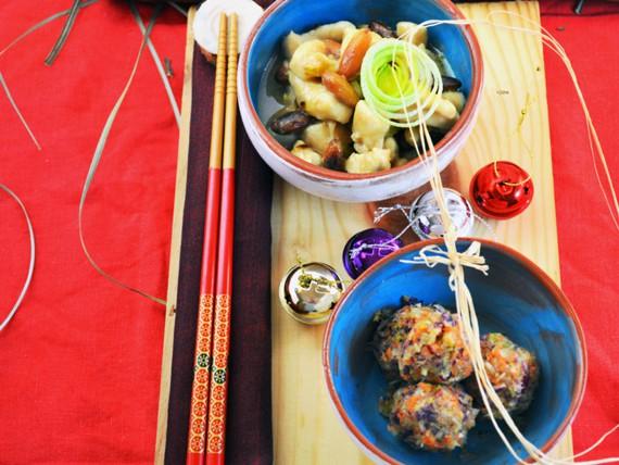 la ricetta per preparare il pollo alle mandorle con crudaiola di verdure amare
