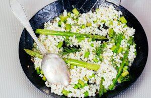 orzo primavera con asparagi