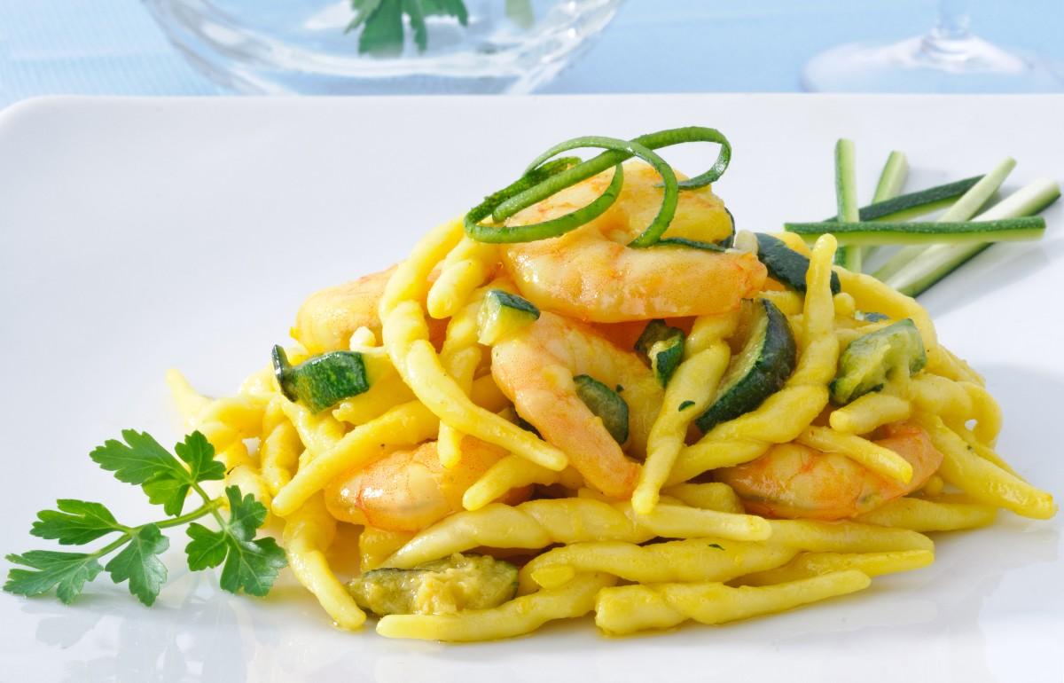 Ricetta delle trofie zucchine e gamberetti