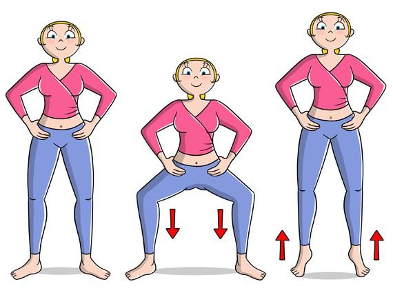 squat per tonificare gambe