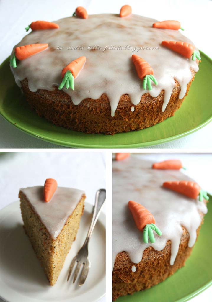 fetta torta alle carote senza glutine