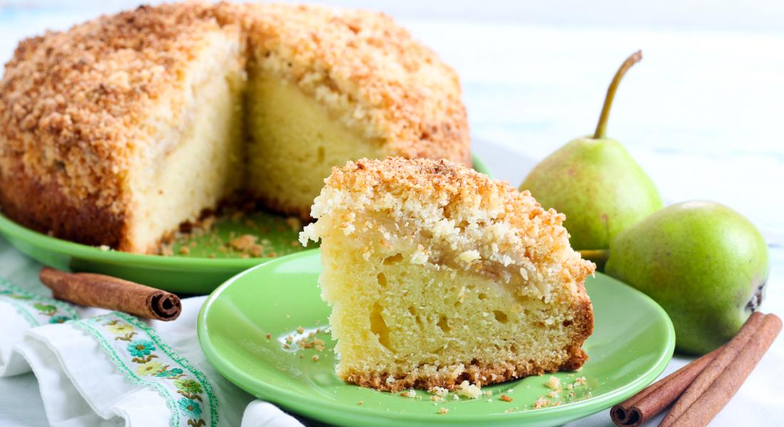 ricetta torta con cocco e pere