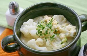 ricetta zuppa di cavolfiore