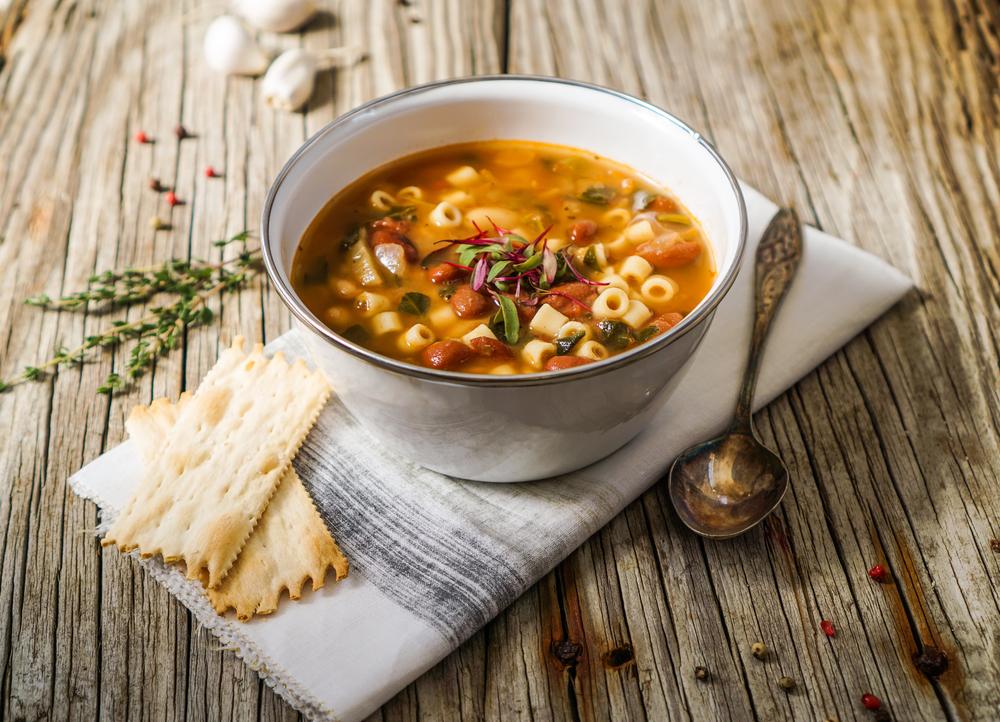 Ricetta zuppa di fagioli con la soia