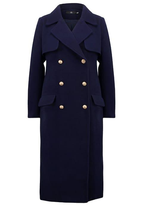 cappotto navy per donna formosa