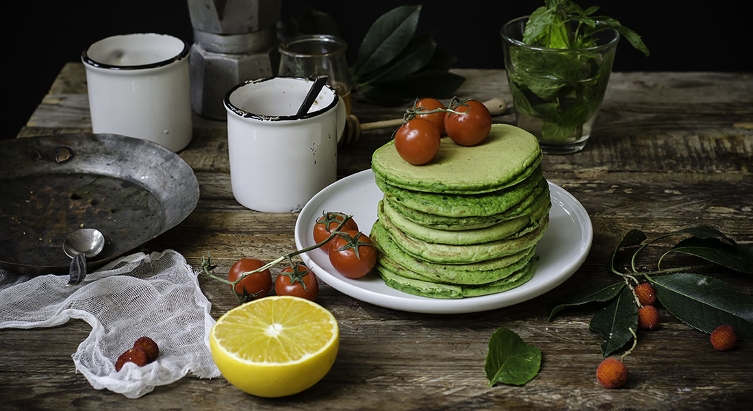 La ricetta dei pancake salati agli spinaci