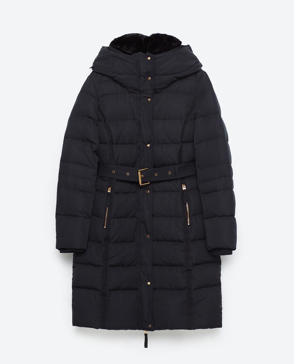 piumino Zara per inverno, donna formosa