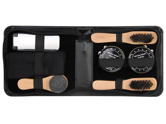 Regali originali per uomo: Set kit per pulizia scarpe in elegante