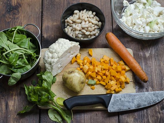 preparazione minestrone