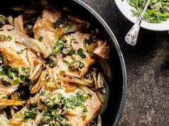 salmone al forno con finocchi light