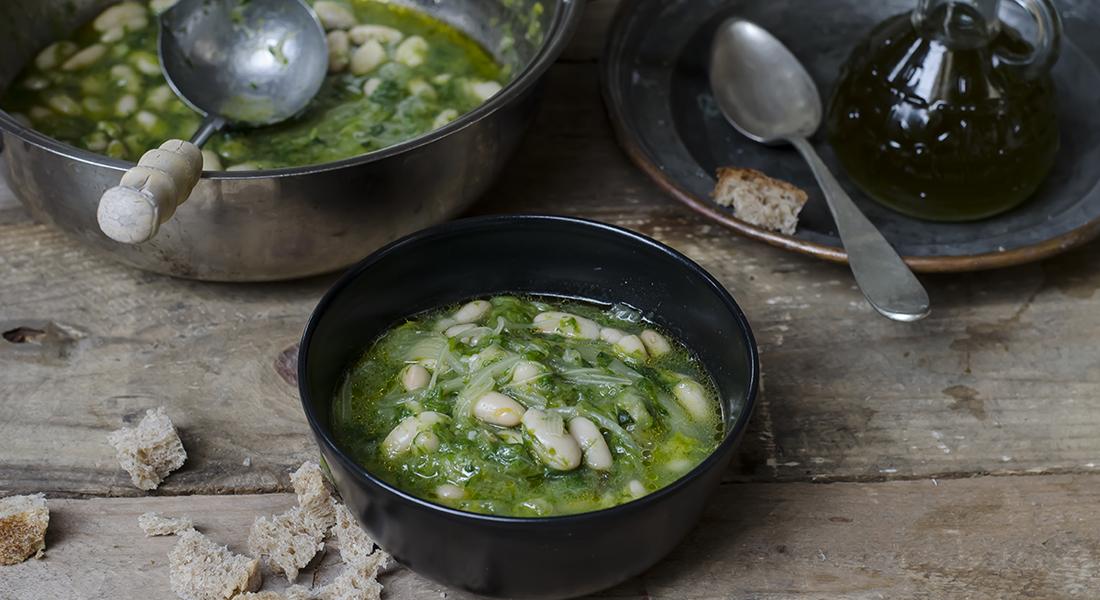 minestre e zuppe: minestra di scarola