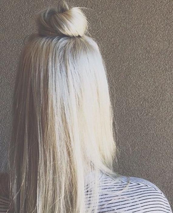 il mezzo chignon per evitare i capelli gonfi in inverno