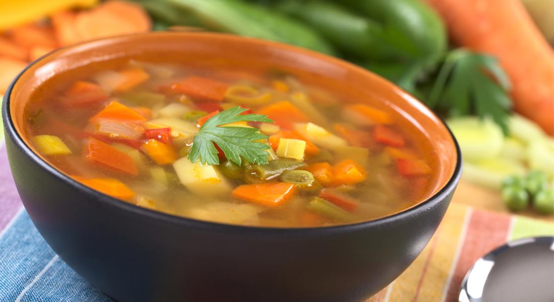 minestre e zuppe: minestra di verdura