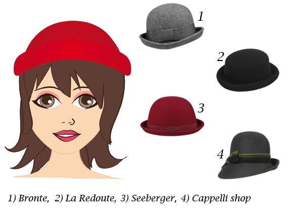 cappello per viso quadrato