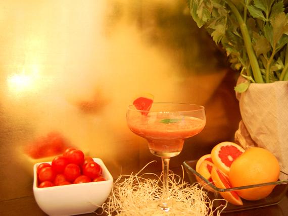 smoothie pomodoro, pompelmo e sedano