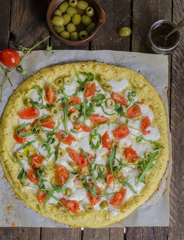 la ricetta della pizza di cavolfiore