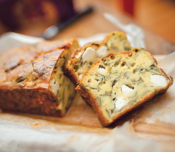 la ricetta per un plumcake salato don feta e spinaci