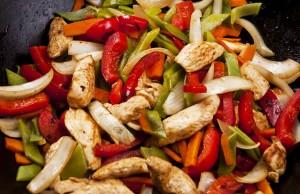 Bocconcini di tacchino con verdure