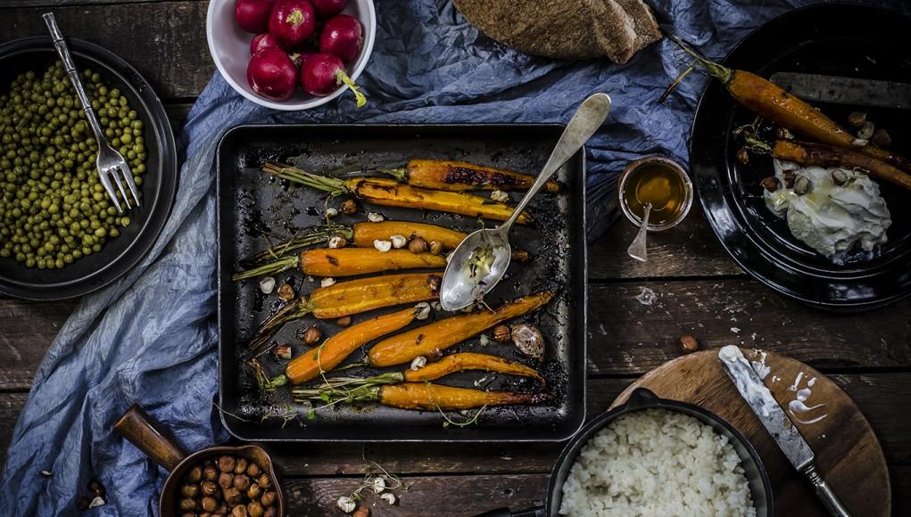 carote arrosto con miele e timo
