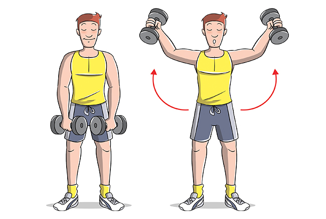 Esercizi Spalle alzate laterali