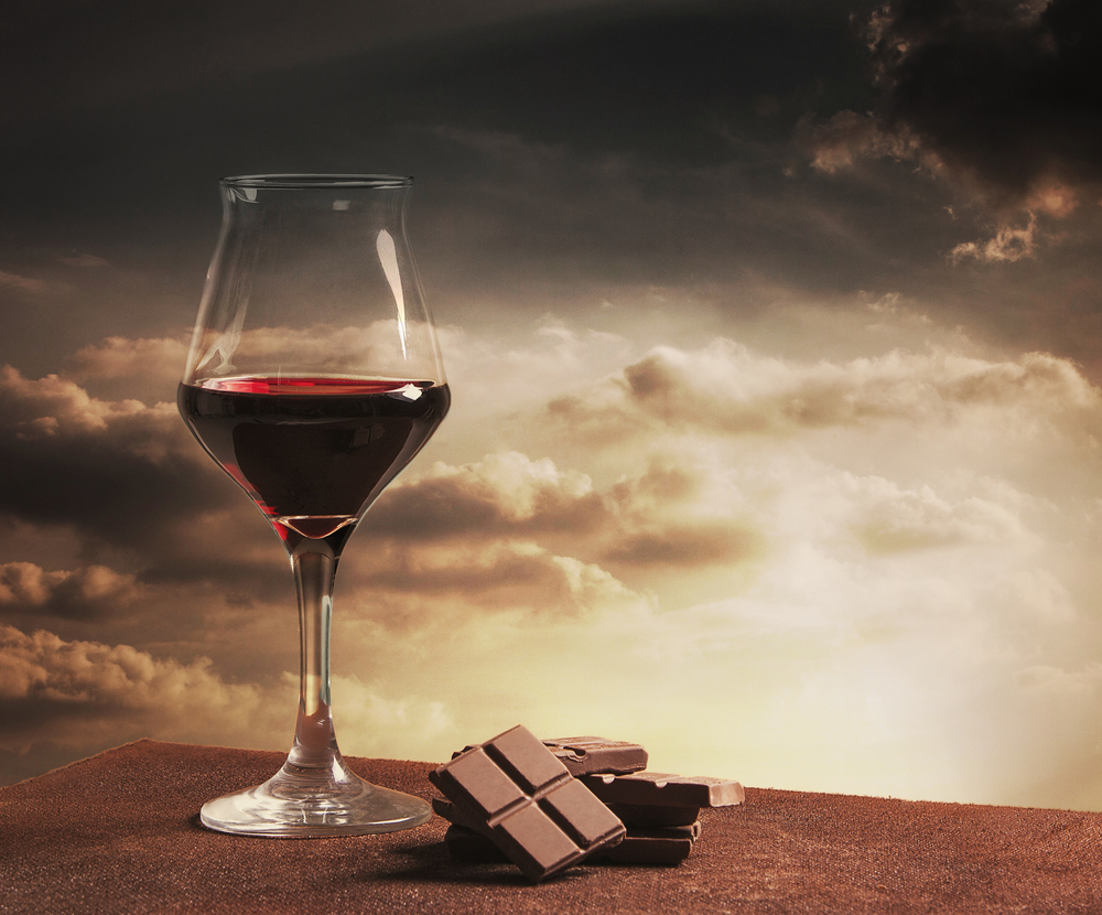 vino rosso e cioccolato fanno bene all'intestino