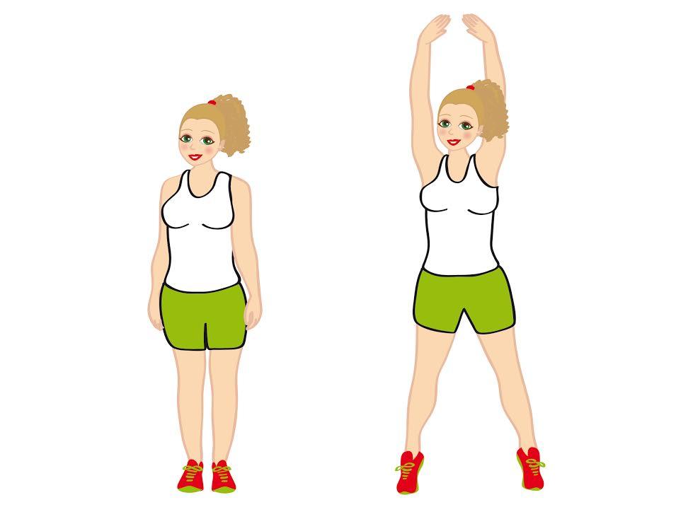 jumping jack per smaltire il grasso sulla schiena