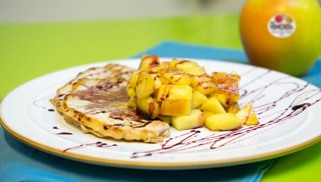 Ricetta dei filetti di maiale con mele