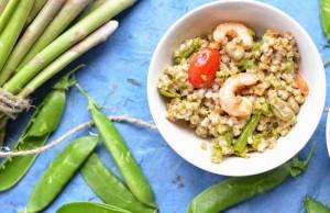 la ricetta dell'insalata primaverile di farro