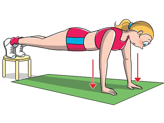esercizi pettorali - Piegamenti rialzati