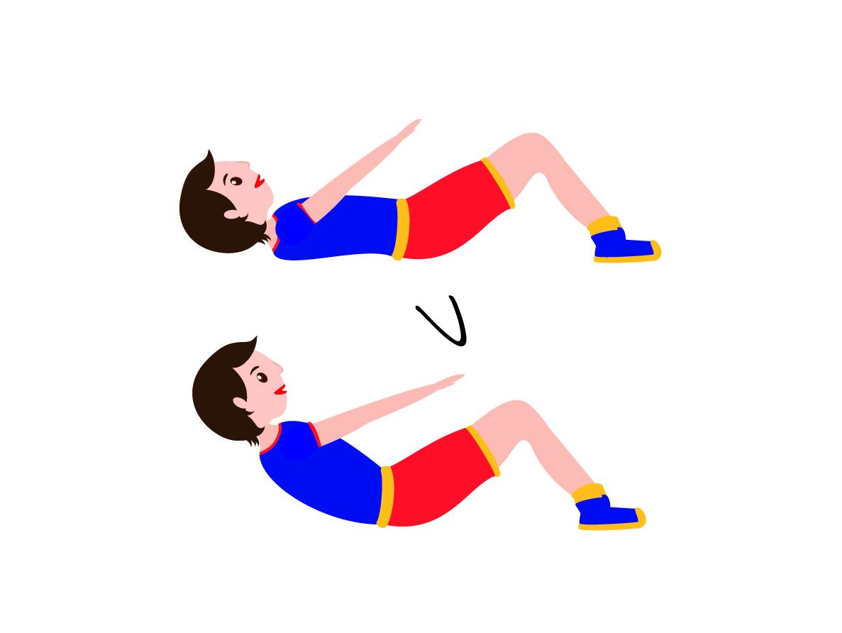 Allenamento a circuito esercizio crunch