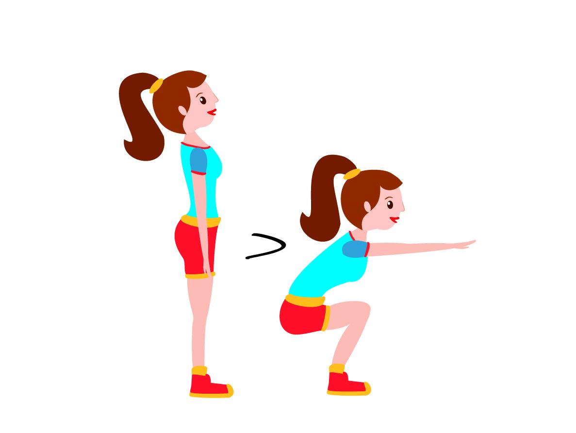 Allenamento a circuito esercizio squat
