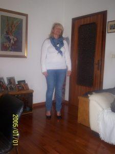 Anna prima della dieta Melarossa quando pesava 80 kg