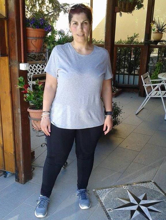 Francesca dopo aver perso 23 kg con Melarossa