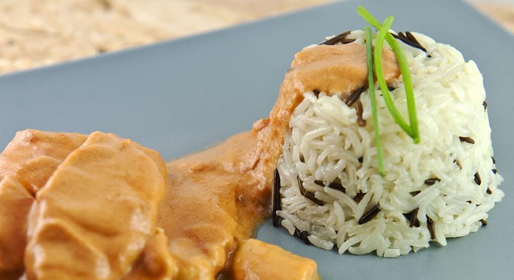 ricetta del pollo al cocco e riso