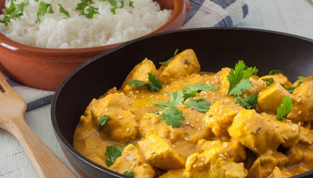la ricetta light del pollo al curry