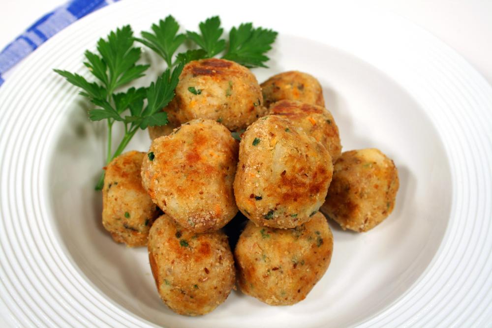 polpette di pollo con salsa ai peperoni