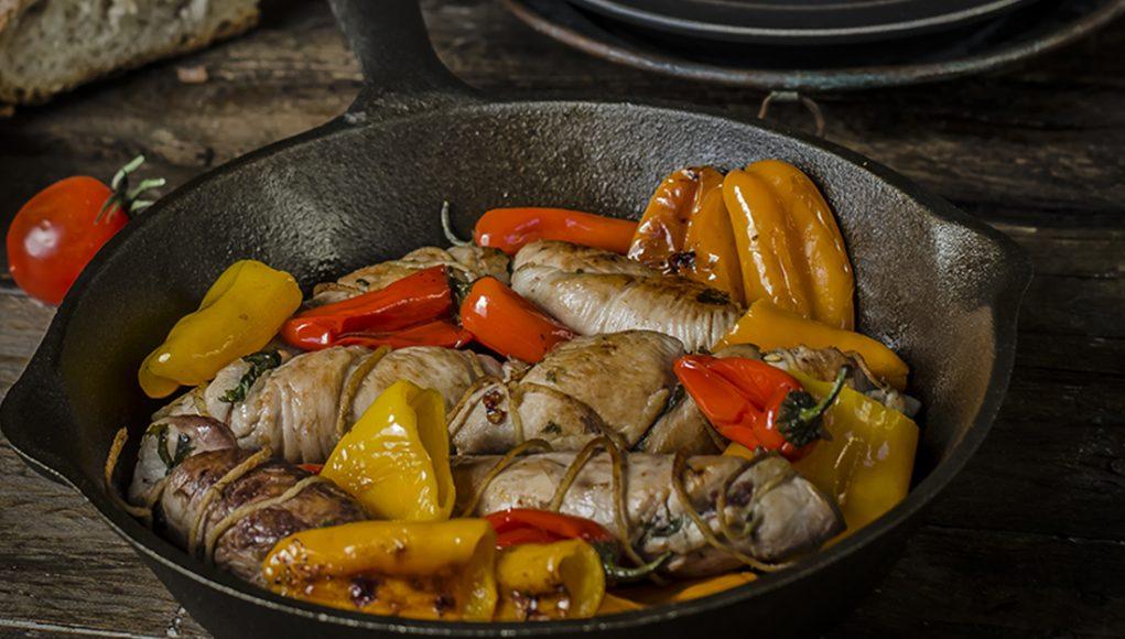ricetta involtini di pollo con peperoncini dolci