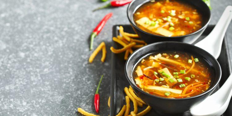 zuppa cinese gamberetti
