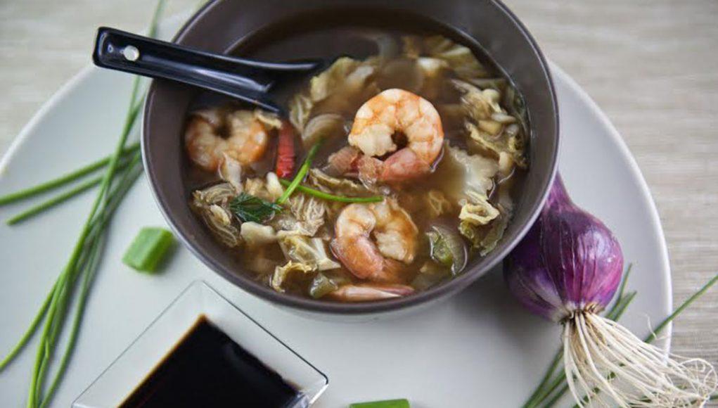 la ricetta della zuppa cinese di gamberetti