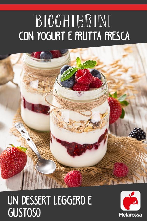 desserto allo yogurt e frutta fresca