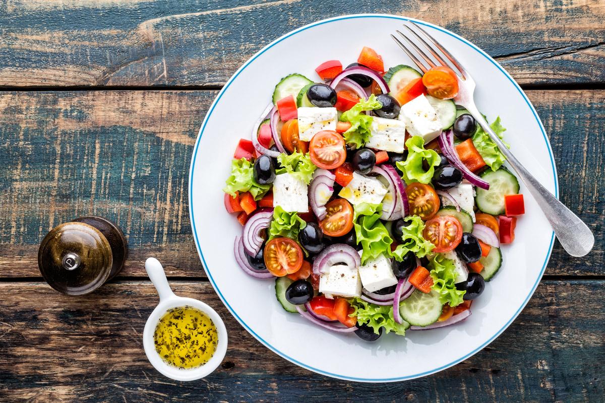 cibi crudi e ricette: insalata greca